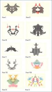 Rorschachův test - inkoustové skvrny