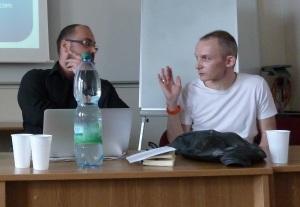 zleva: David Černý, Tomáš Hříbek