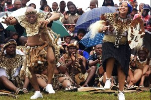 Jacob Zuma během obřadu