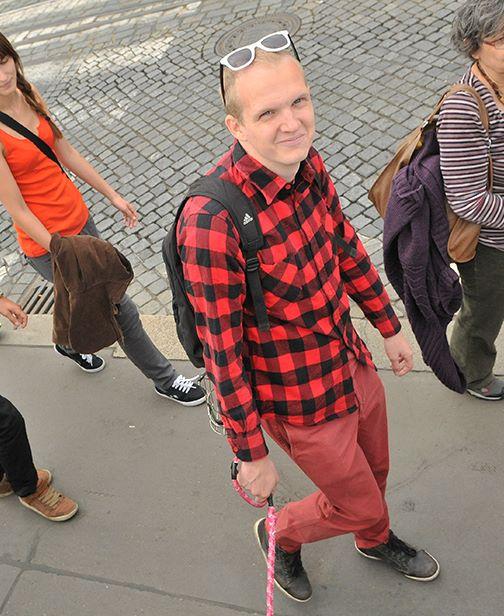 Známý český fyzik, religionista, filosof, ateofob, politolog, sociolog a bezpečností analytik, Jan Cemper, na jedné z akcí na podporu propagace myšlenek ekologie, veganství a světa bez xenofobie, rasismu, homofobie a sexismu.