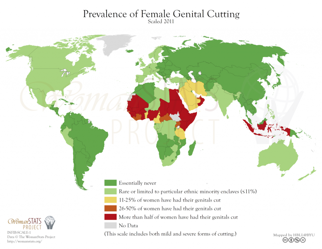 FGM_Genitalverstümmlung_Karte_Verbreitung