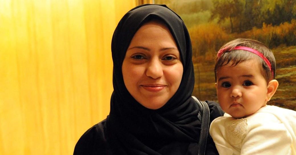 Samar Badawi se svou dcerou Joud.