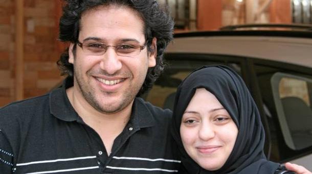 Waleed Abu al-Khair a jeho manželka, Samar Badawi.