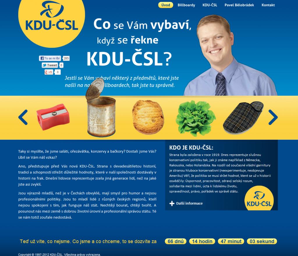 moderni KDU kampaň screenshot