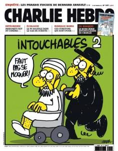Nedotknutelní 2 - obálka týdeníku Charlie Hebdo