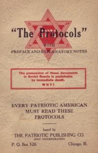 Protokoly sionských mudrců americké vydání z roku 1934