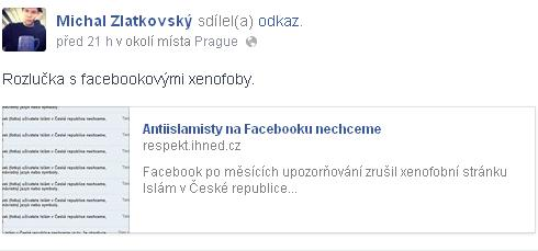 Michal Zlatkovský se na svém Facebooku chlubí svým článkem, kterým sám sebe usvědčuje z neznalosti pojmového aparátu, který užívá.